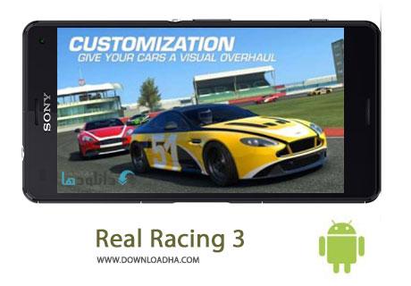 Real Racing 3 Cover%28Downloadha.com%29 دانلود بازی مهیج و زیبای مسابقه واقعی Real Racing 3 v3.5.2 برای اندروید