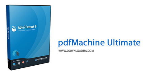 pdfMachine Ultimate Cover%28Downloadha.com%29 دانلود نرم افزار ساخت و ویرایش فایل های پی دی اف BroadGun pdfMachine Ultimate v14.81