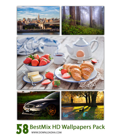 BestMix HD Wallpapers Pack Cover%28Downloadha.com%29 دانلود 58 والپیپر متنوع و با کیفیت BestMix HD Wallpapers Pack