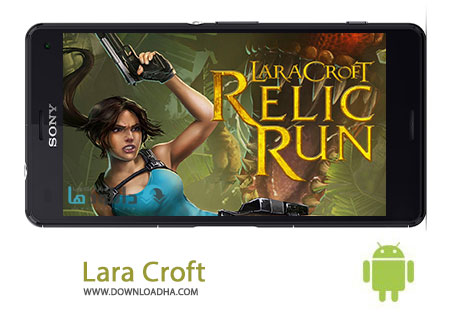 Lara Croft Cover%28Downloadha.com%29 دانلود بازی لارا کرافت Lara Croft Relic Run v1.0.32 برای اندروید