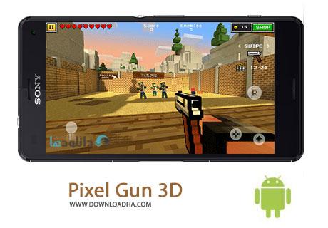Pixel Gun 3D Cover%28Downloadha.com%29 دانلود بازی اکشن و مهیج تفنگداران پیکسلی Pixel Gun 3D v10.0.4 برای اندروید