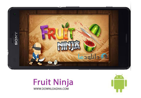 Fruit Ninja Cover %28Downloadha.com%29 دانلود آخرین نسخه بازی فرویت نینجا Fruit Ninja Premium 2.3.4 برای اندروید