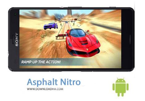 Asphalt Nitro Cover%28Downloadha.com%29 دانلود بازی مسابقه ای و مهیج آسفالت نیترو Asphalt Nitro 1.2.1a برای اندروید