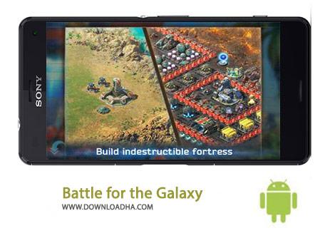 Battle for the Galaxy Cover%28Downloadha.com%29 دانلود بازی استراتژیک و زیبای نبرد برای کهکشان Battle for the Galaxy 1.11.1 برای اندروید