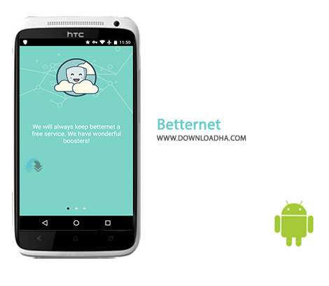 Betternet Cover(Downloadha.com) دانلود نرم افزار بهینه سازی اینترنت Betternet 3.4.1 برای اندروید