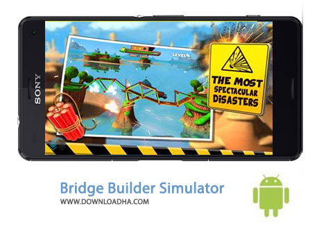 Bridge Builder Simulator Cover%28Downloadha.com%29 دانلود بازی شبیه سازی ساخت پل Bridge Builder Simulator 1.0 برای اندروید