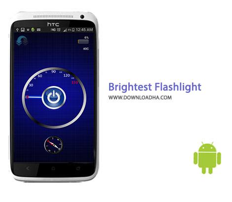 Brightest Flashlight Cover%28Downloadha.com%29 دانلود چراغ قوه پرکاربرد Brightest Flashlight Free 2.4.2 برای اندروید