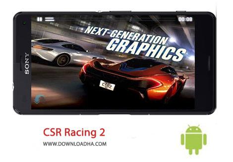 CSR Racing 2 Cover%28Downloadha.com%29 دانلود بازی مهیج و مسابقه ای CSR Racing 2 1.2.0 برای اندروید
