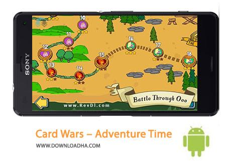 Card Wars Adventure Time Cover%28Downloadha.com%29 دانلود بازی ماجرایی جنگ کارت ها Card Wars – Adventure Time 1.9.0 برای اندروید