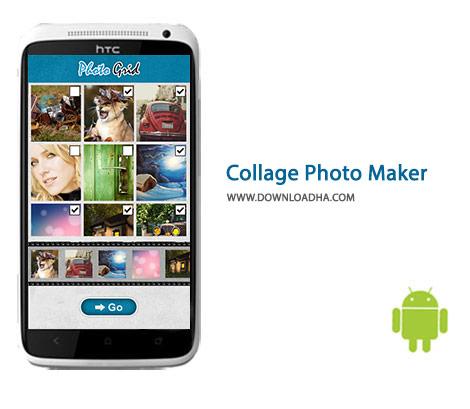 Collage Photo Maker Cover%28Downloadha.com%29 دانلود نرم افزار ساخت تصاویر کلاژ Collage Photo Maker Pic Grid 1.2.6 برای اندروید