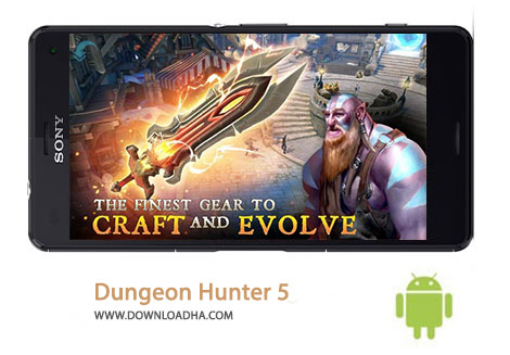 Dungeon Hunter 5 Cover%28Downloadha.com%29 دانلود بازی اکشن و مهیج شکارچی سیاه چال Dungeon Hunter 5 v1.5.1b برای اندروید