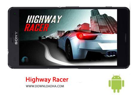 Highway Racer Cover%28Downloadha.com%29 دانلود بازی مسابقه ای اتومبیل رانی در بزرگراه Highway Racer : No Limit 1.23 برای اندروید