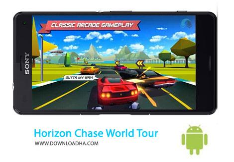 Horizon Chase World Tour Cover%28Downloadha.com%29 دانلود بازی اتومبیل رانی افق شکار Horizon Chase – World Tour 1.3.0 برای اندروید