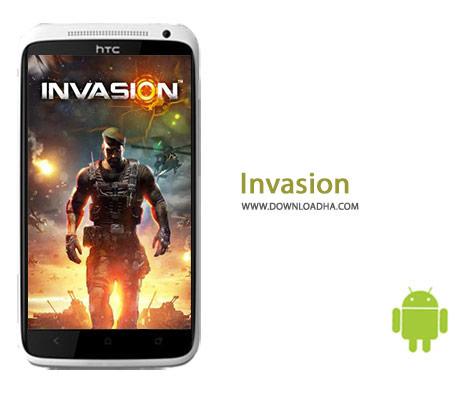 Invasion Cover%28Downloadha.com%29 دانلود بازی استراتژیک و زیبای تهاجم Invasion: Global Warfare 1.30.2   اندروید