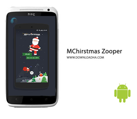 MChirstmas Zooper Cover%28Downloadha.com%29 دانلود نرم افزار ویجت های زیبا برای تعطیلات کریسمس MChirstmas Zooper 1.0 برای اندروید