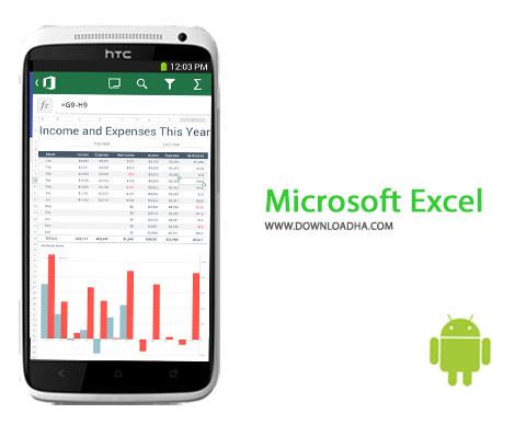 Microsoft Excel Cover%28Downloadha.com%29 دانلود نرم افزار اکسل Microsoft Excel 16.0.7301.1013   اندروید