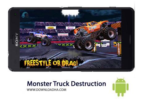 Monster Truck Destruction Cover%28Downloadha.com%29 دانلود بازی مسابقه ای ماشین های غول پیکر Monster Truck Destruction 2.65 برای اندروید