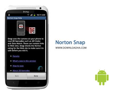 Norton Snap Cover%28Downloadha.com%29 دانلود نرم افزار شناسایی کدهای QR مخرب Norton Snap 1.0.1.62 برای اندروید