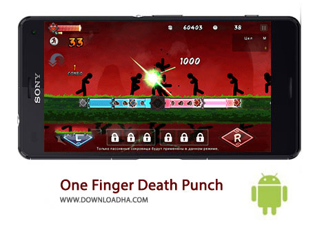 One Finger Death Punch Cover%28Downloadha.com%29 دانلود بازی اکشن یک انگشت پانچ مرده One Finger Death Punch 4.72 برای اندروید