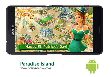 Paradise Island Cover(Downloadha.com) دانلود بازی زیبای جزیره بهشتی Paradise Island 3.2.15 برای اندروید