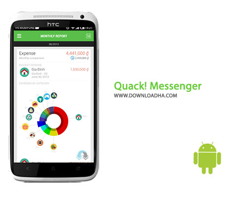 Quack Messenger Cover%28Downloadha.com%29 دانلود برنامه چت Quack! Messenger 3.5.1 برای اندروید