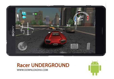 Racer UNDERGROUND Cover%28Downloadha.com%29 دانلود بازی زیبای اتومبیل رانی Racer UNDERGROUND 1.25 برای اندروید