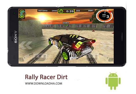 Rally Racer Dirt Cover%28Downloadha.com%29 دانلود بازی مهیج مسابقات رالی Rally Racer Dirt 1.3.1 برای اندروید