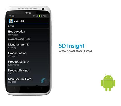 SD Insight Cover%28Downloadha.com%29 دانلود برنامه تشخیص جعلی بودن کارت حافظه SD Insight 1.5.7 برای اندروید