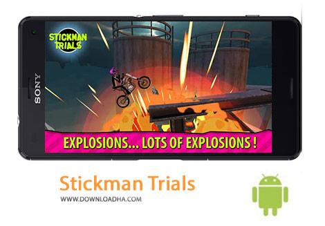 Stickman Trials Cover%28Downloadha.com%29 دانلود بازی مهیج موتورسواری Stickman Trials v2.2.2 برای اندروید