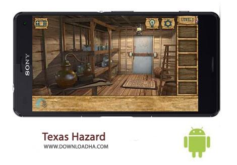 Texas Hazard Cover(Downloadha.com) دانلود بازی معمایی و مهیج خطر تگزاس Texas Hazard 1.1 برای اندروید
