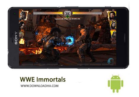 WWE Immortals Cover%28Downloadha.com%29 دانلود بازی مهیج کشتی کج WWE Immortals 1.9.0 برای اندروید