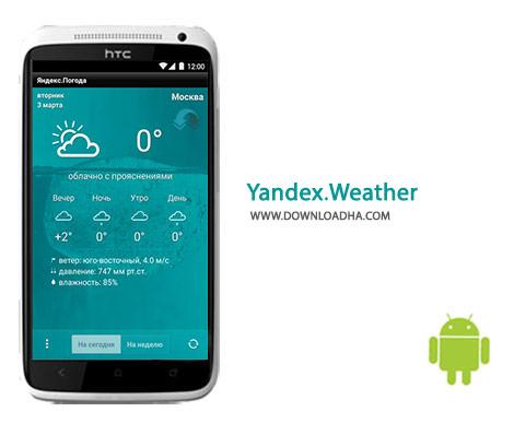 Yandex.Weather Cover%28Downloadha.com%29 دانلود نرم افزار پیش بینی وضع آب و هوایی Yandex.Weather 4.02 برای اندروید