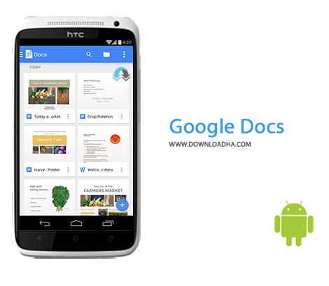 Google Docs Cover%28Downloadha.com%29 دانلود برنامه رسمی اسناد گوگل Google Docs 1.6.292.11   اندروید