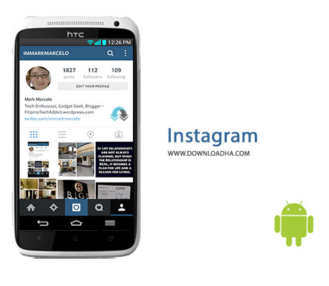 Instagram Cover%28Downloadha.com%29 اینستاگرام Instagram 9.0.0   اندروید