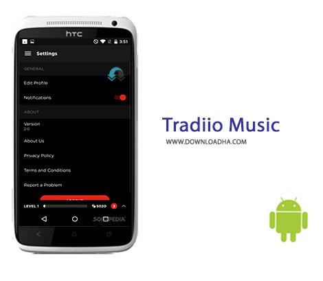 Tradiio Music Cover%28Downloadha.com%29 نرم افزار دانلود موسیقی های آنلاین Tradiio Music 3.1.0 برای اندروید