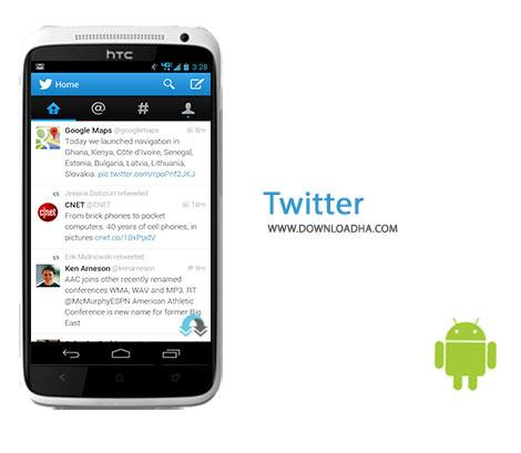 Twitter Cover%28Downloadha.com%29 دانلود آخرین نسخه نرم افزار توئیتر Twitter 6.7.0   اندروید