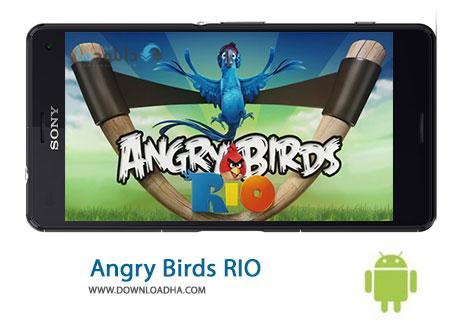 Angry Birds Rio Cover%28Downloadha.com%29 دانلود آخرین نسخه بازی انگری بیردز ریو Angry Birds Rio 2.5.0 برای اندروید