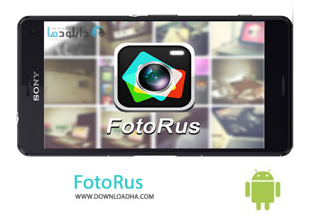 FotoRus Cover%28Downloadha.com%29 دانلود نرم افزار ویرایش تصاویر FotoRus 6.0.8 برای اندروید