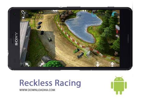 Reckless Racing Cover%28Downloadha.com%29 دانلود بازی زیبای اتومبیل رانی بی پروار Reckless Racing 2 1.0.4 برای اندروید