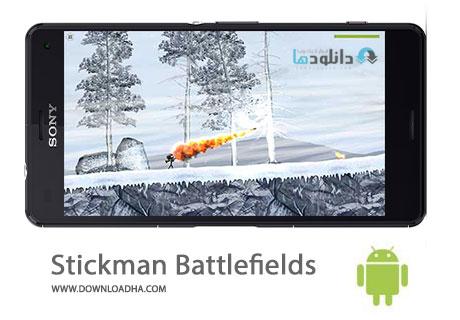 Stickman Battlefields Cover%28Downloadha.com%29 دانلود بازی اکشن و زیبای نبرد آدمک ها Stickman Battlefields 1.2.3 برای اندروید