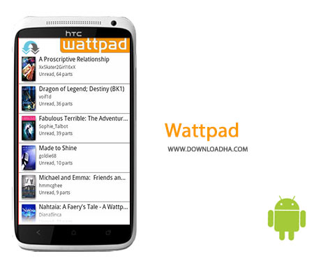 Wattpad Cover%28Downloadha.com%29 دانلود کتاب داستان های جالب Wattpad 6.22.1   اندروید