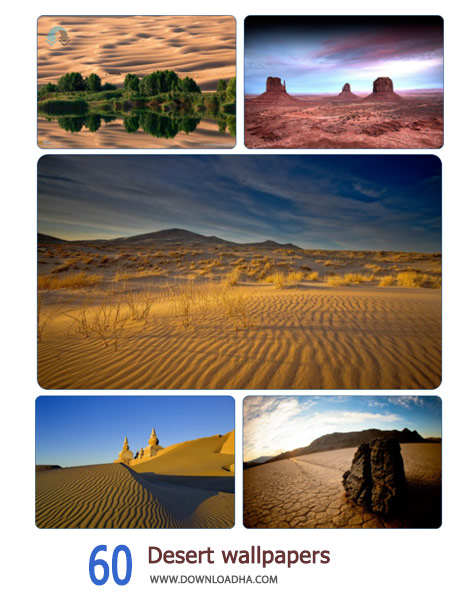 60 Desert wallpapers Cover%28Downloadha.com%29 دانلود مجموعه 60 والپیپر از بیابان
