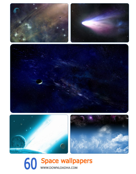 60 Space wallpapers Cover%28Downloadha.com%29 دانلود مجموعه 60 والپیپر فضا