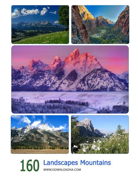 160 Landscapes Mountains Cover%28Downloadha.com%29 دانلود مجموعه 160 والپیپر عریض از کوهستان