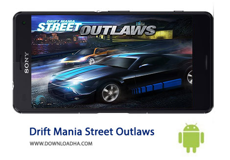 Drift Mania Street Outlaws Cover%28Downloadha.com%29 دانلود بازی مسابقه ای دریفت Drift Mania Street Outlaws 1.17   اندروید