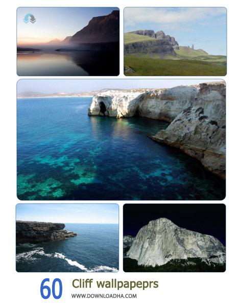 60 Cliff wallpapeprs Cover%28Downloadha.com%29 دانلود مجموعه 60 والپیپر صخره های دریایی