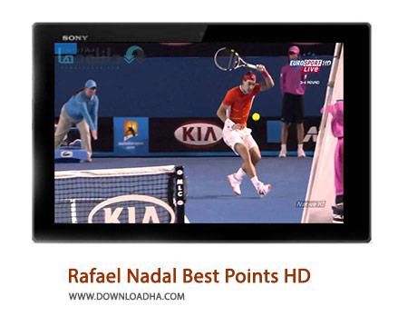 Rafael Nadal Best Points HD Cover%28Downloadha.com%29 دانلود کلیپ برترین امتیازات رافائل نادال با کیفیت HD