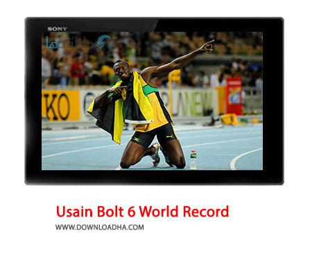 Usain Bolt 6 World Record Cover%28Downloadha.com%29 دانلود کلیپ 6 رکورد شکنی یوسین بولت در دومیدانی