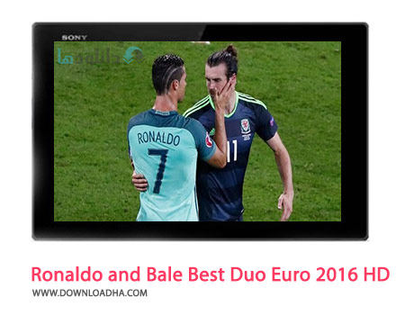 Ronaldo and Bale Best Duo Euro 2016 HD Cover%28Downloadha.com%29 دانلود کلیپ رقابت رونالدو و بیل در یورو 2016