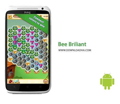 Bee Briliant Cover%28Downloadha.com%29 دانلود بازی پازل و زیبای زنبور درخشان Bee Brilliant 1.22.0 برای اندروید